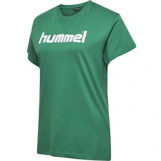 Maglietta donna Hummel Cotton Logo