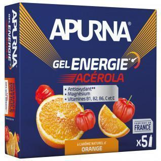 Lotto di 5 gel Apurna Energy Acerola Orange - 35g
