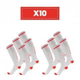 Confezione di 10 paia di calzini alti Hummel Elite Indoor di colore chiaro