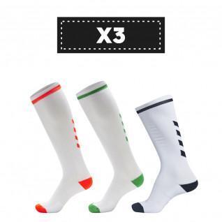 Set di 3 paia di calzini alti Hummel Elite Indoor di colore chiaro (scelta di colori)
