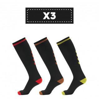 Set di 3 paia di calzini alti scuri Hummel Elite Indoor (scelta di colori)