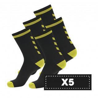 Confezione di 5 paia di calzini scuri Hummel Elite Indoor Low
