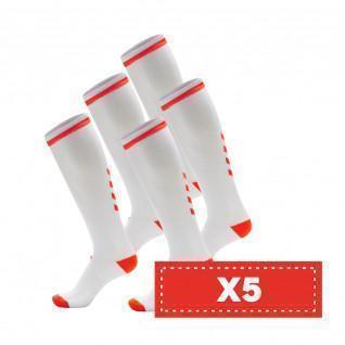 Set di 5 paia di calzini alti Hummel Elite Indoor di colore chiaro