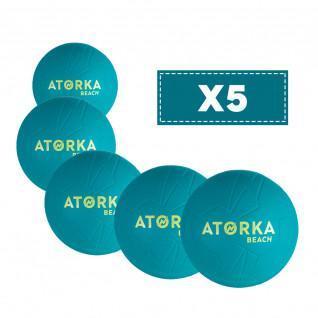 Set di 5 palloni da spiaggia Atorka HB500B
