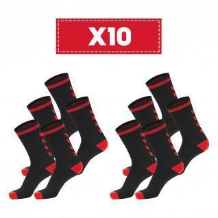 Confezione da 10 paia di calzini scuri Hummel Elite Indoor Low
